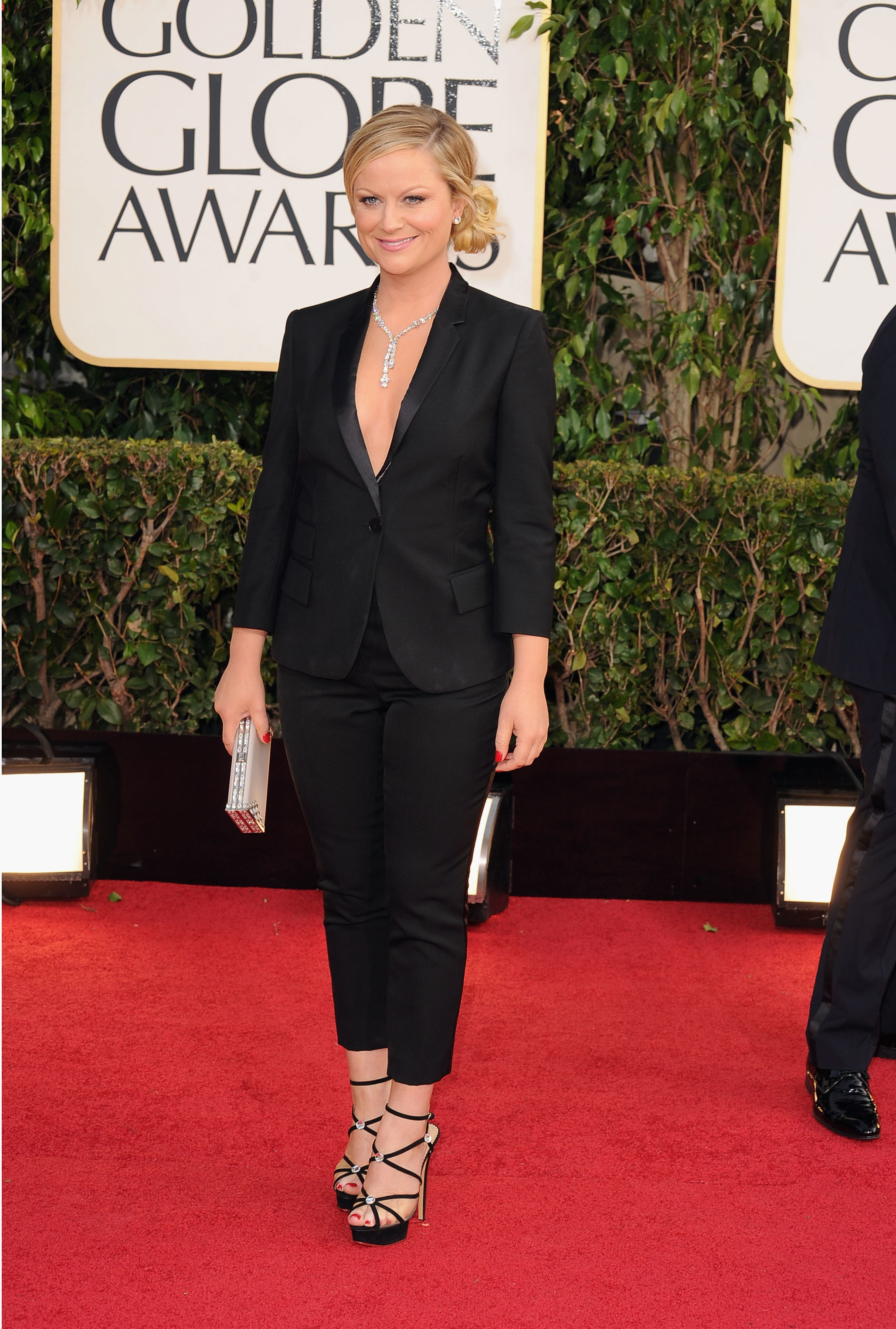 Amy Poehler menswear 12013 Golden Globes