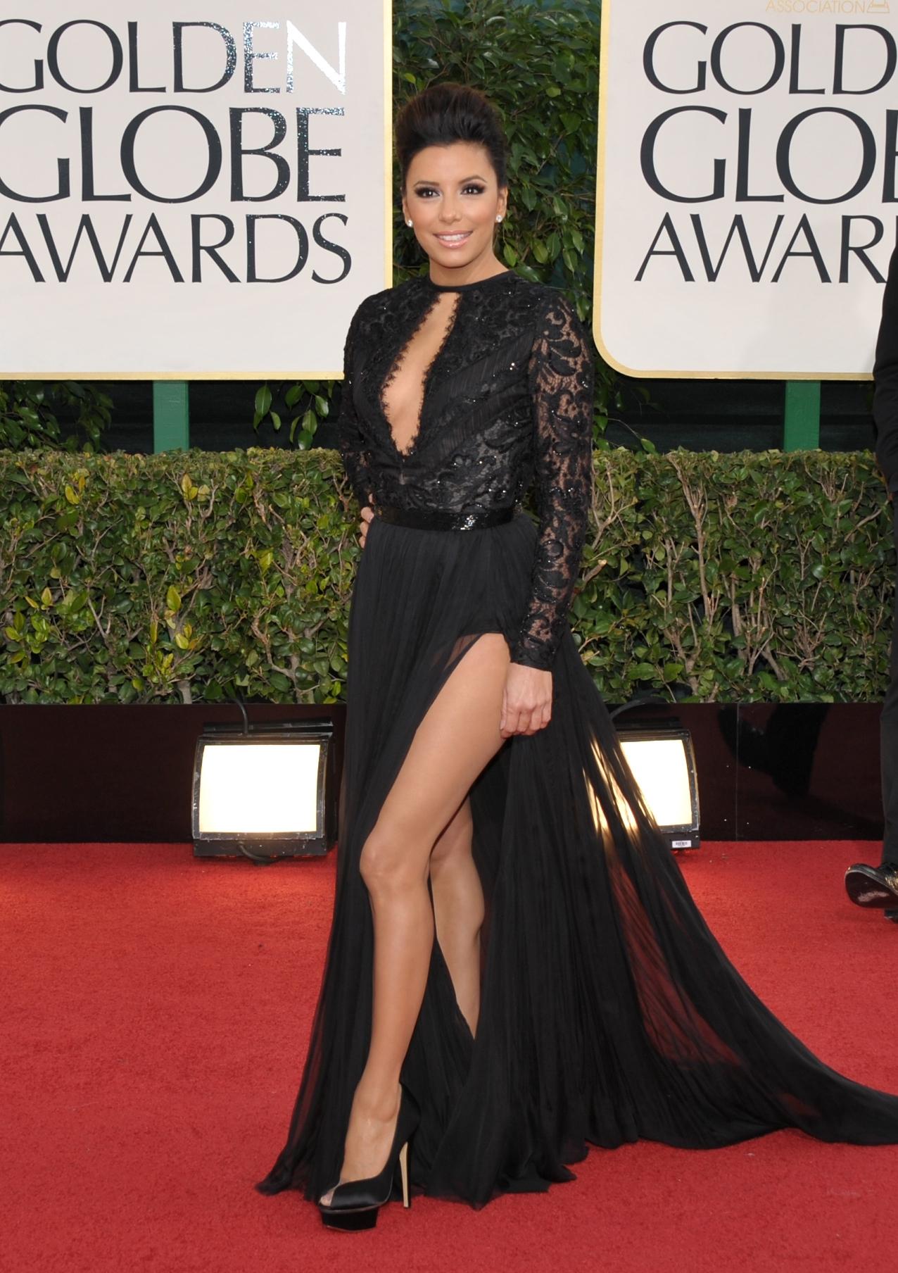 Eva Longoria black dress 2013 Golden Globes