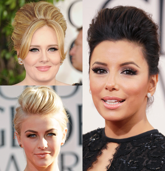 golden globes 2013 red carpet trends hair