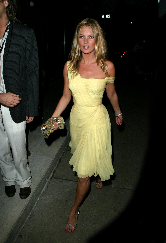 Kate Moss yellow dress
