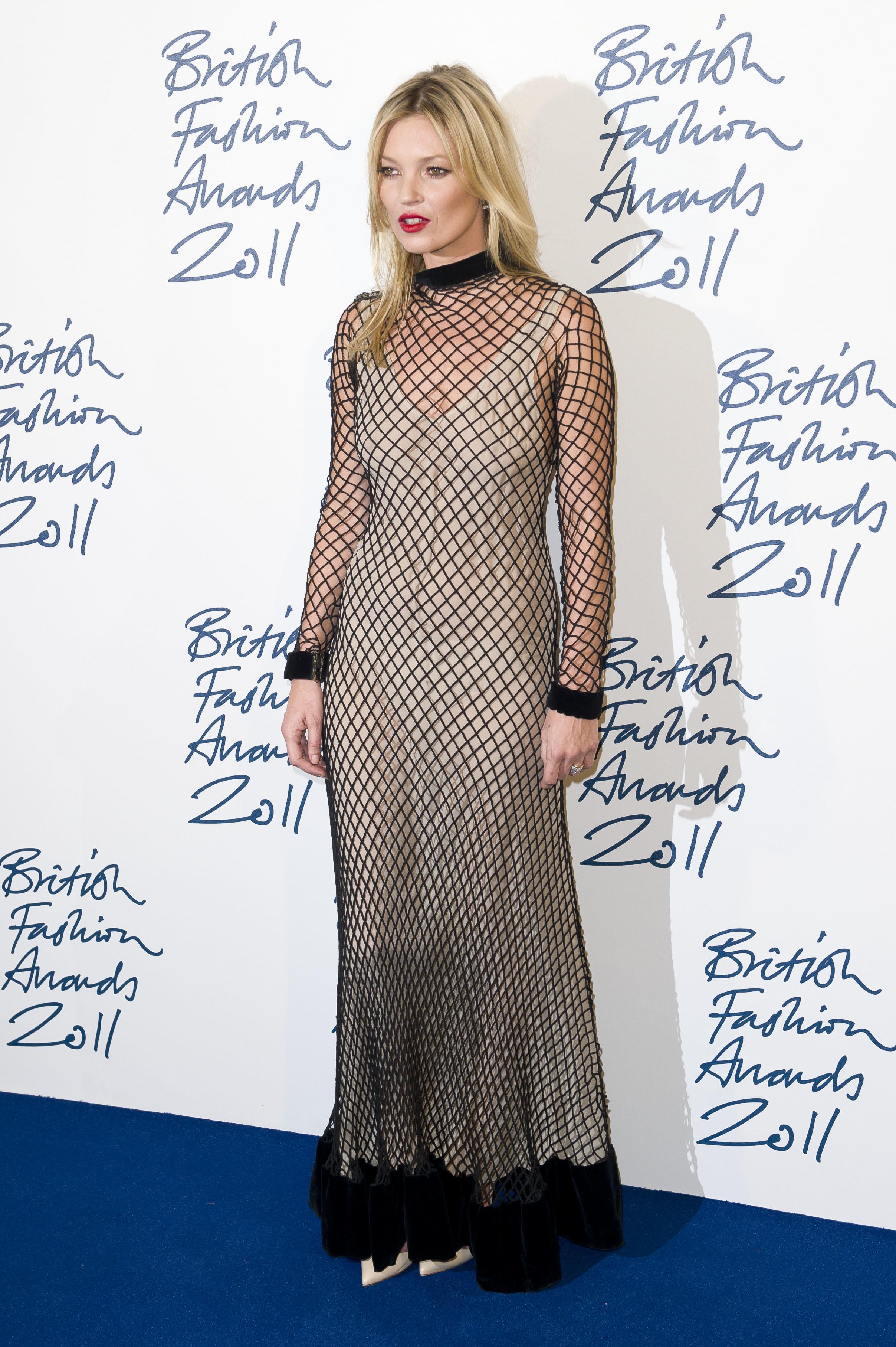 Kate Moss fishnet dress