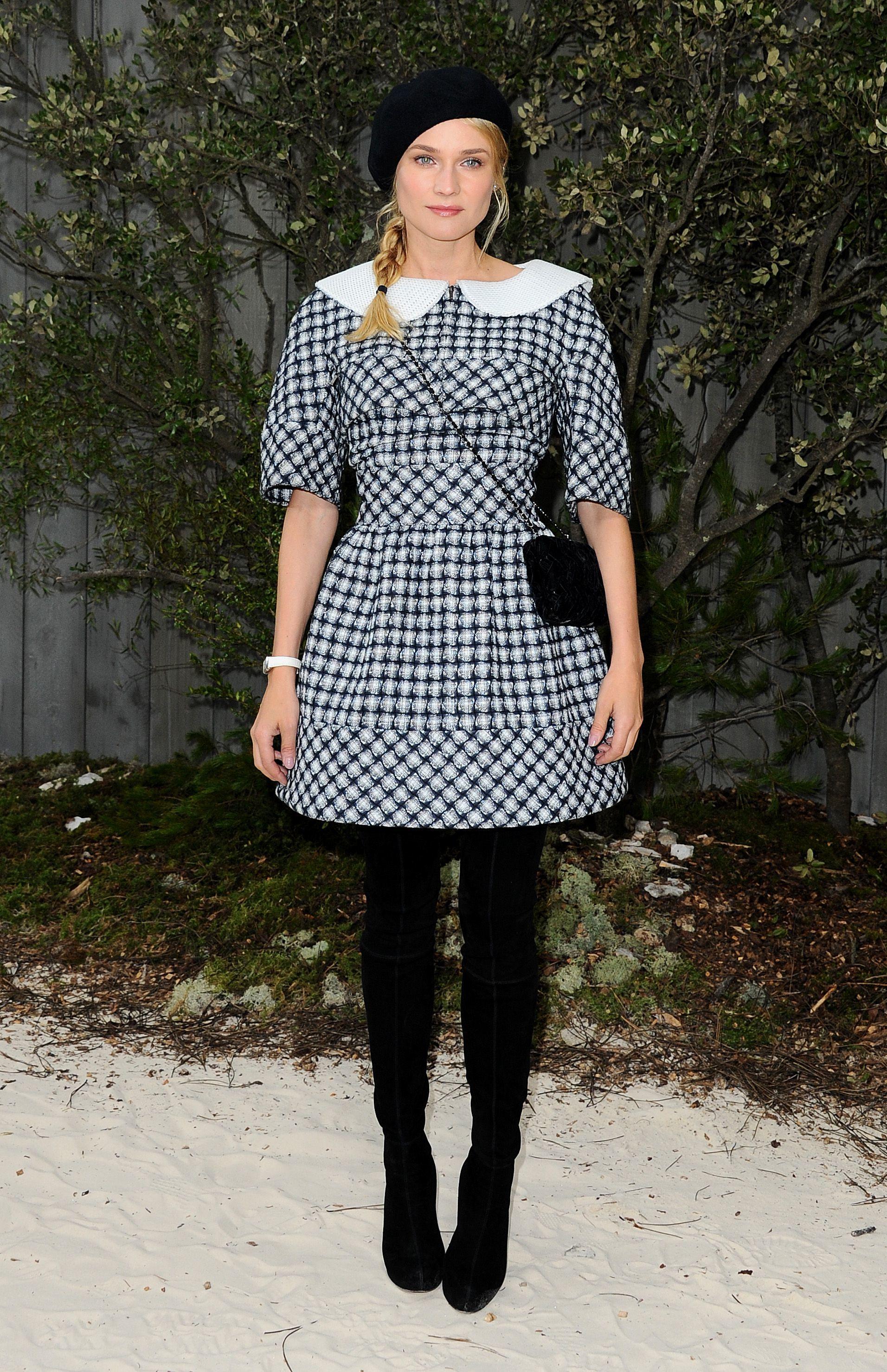 Diane Kruger Chanel black and white dress