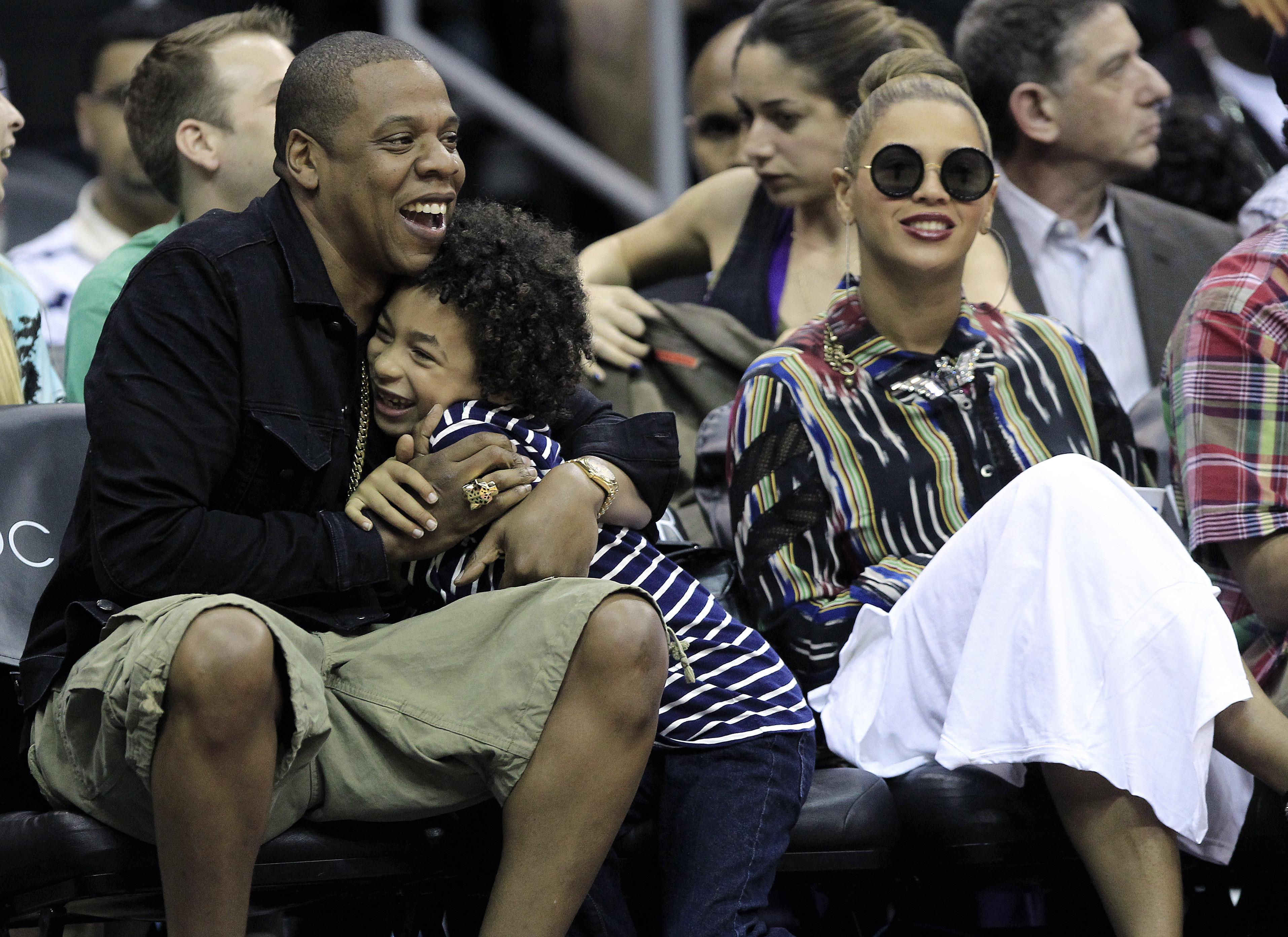 Beyonce Jay Z Courtside