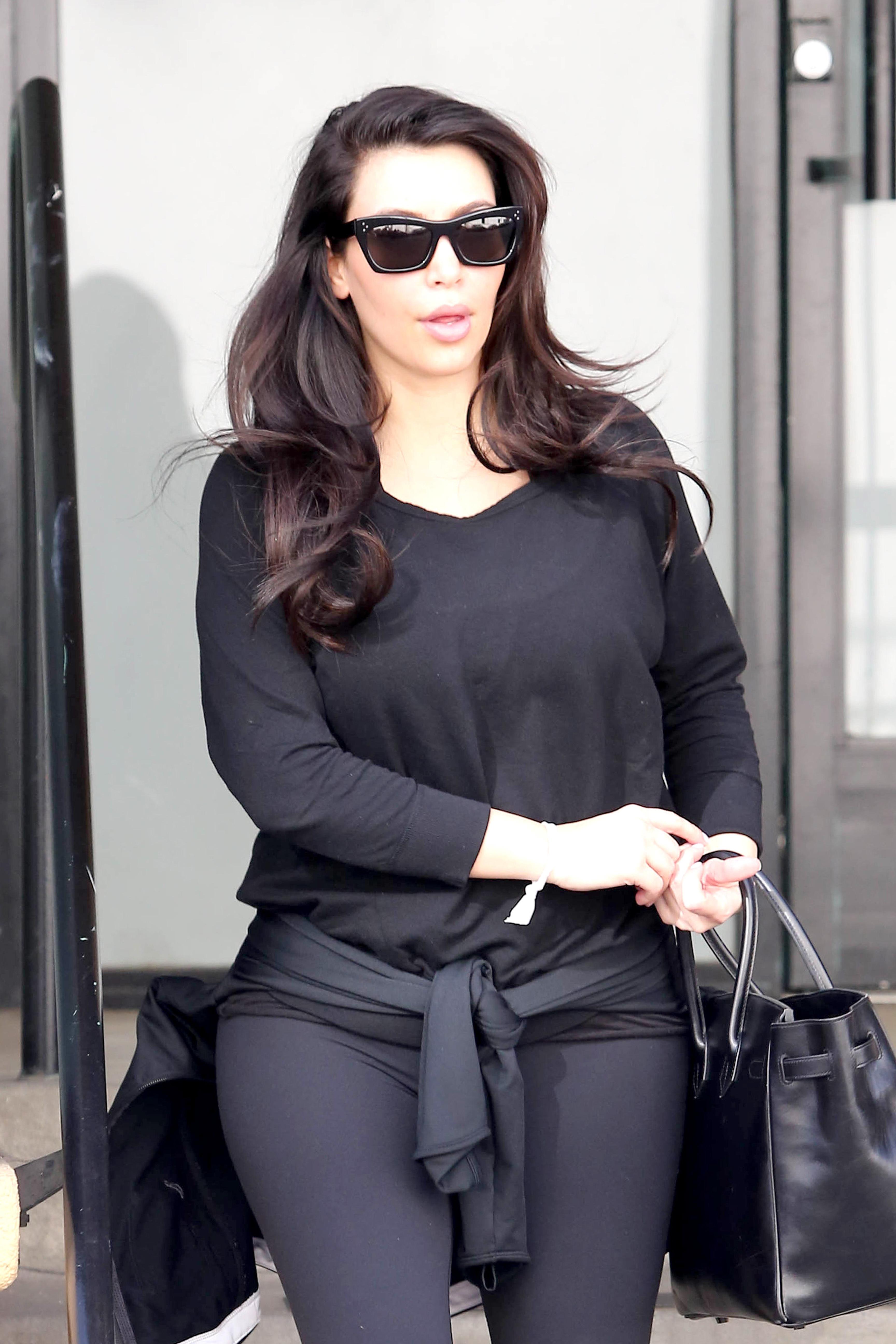 Kim Kardashian gym outfit