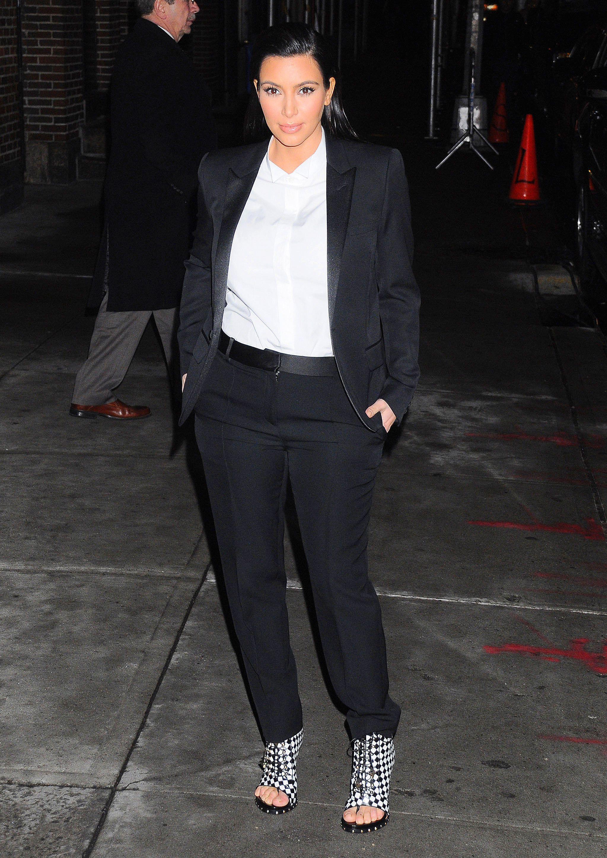 Kim kardashian menswear houndstooth boots