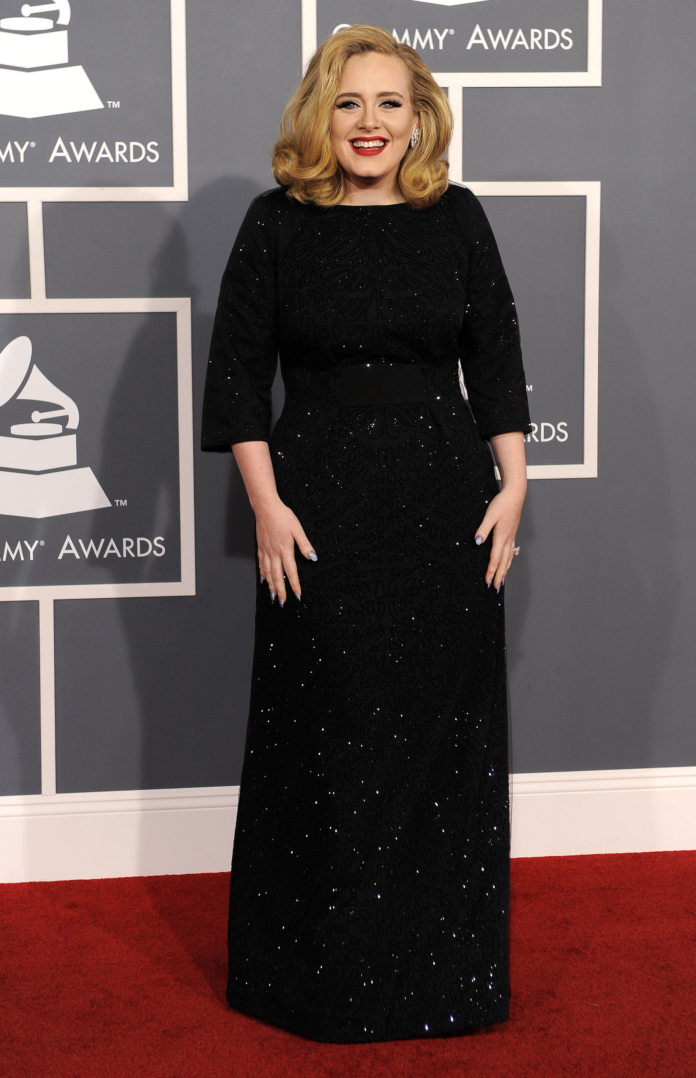 Adele black dress