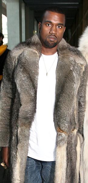 Kanye West Rihanna Fur coat