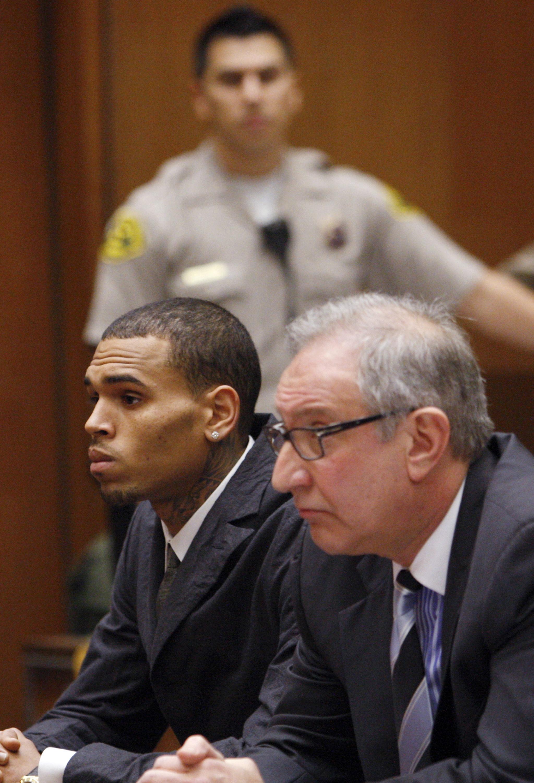 chris brown court probation