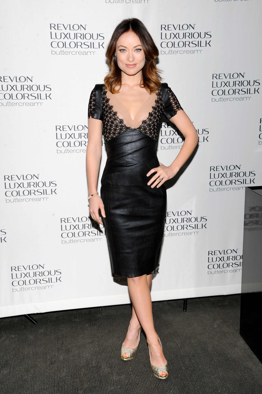 Olivia Wilde red carpet fashion week Revlon brand ambassador
