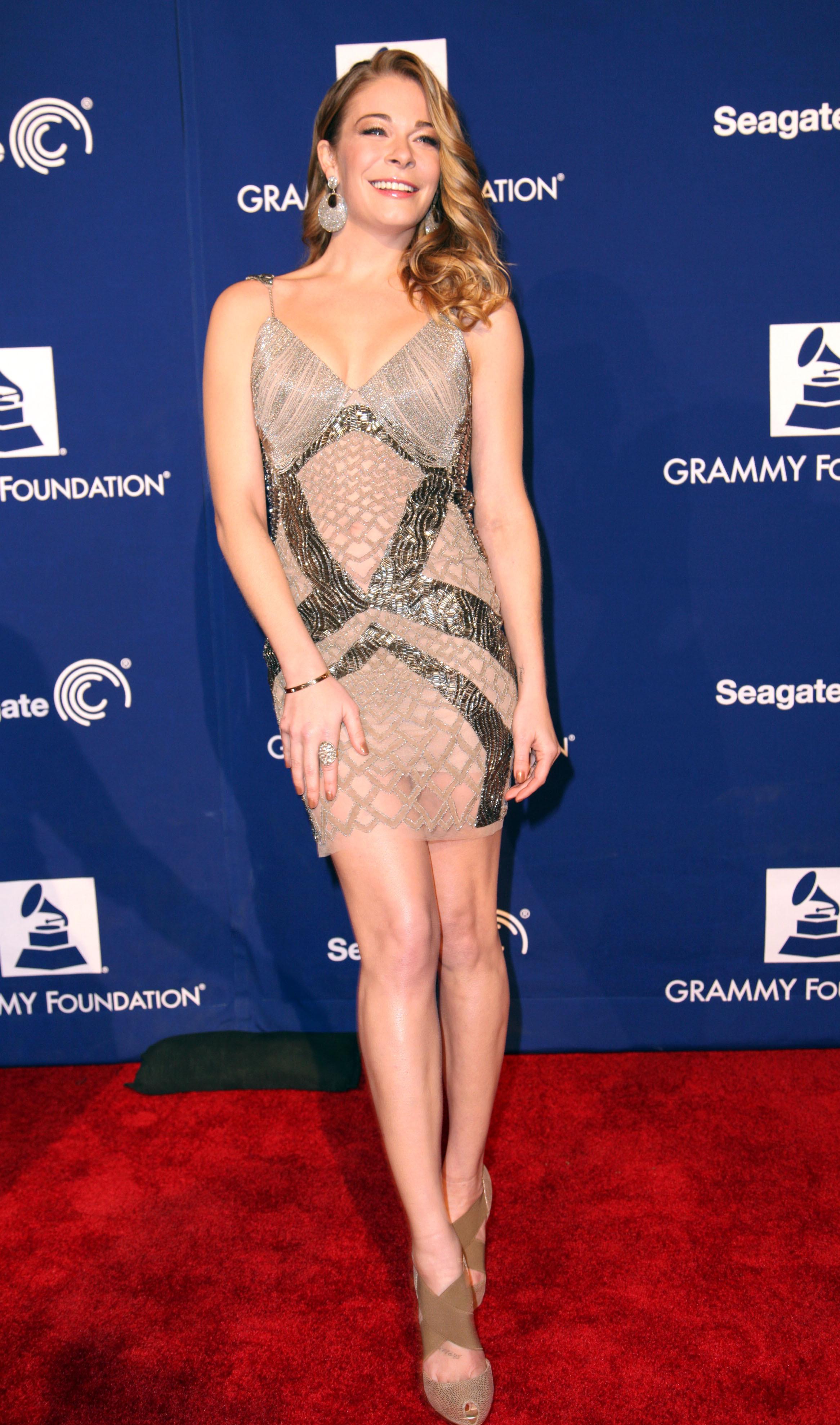 LeAnn Rimes red carpet healthier figure Grammy event