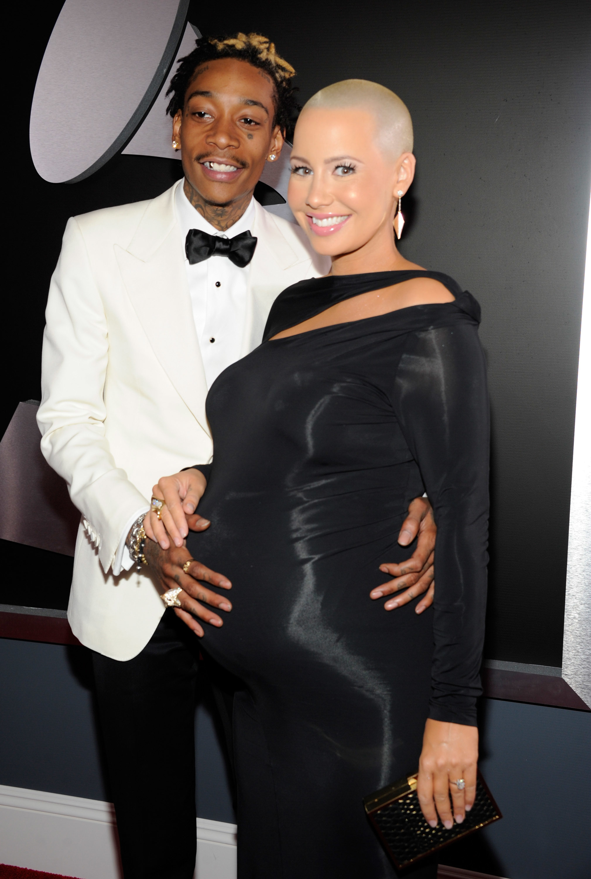 Amber rose wiz khalifa red carpet