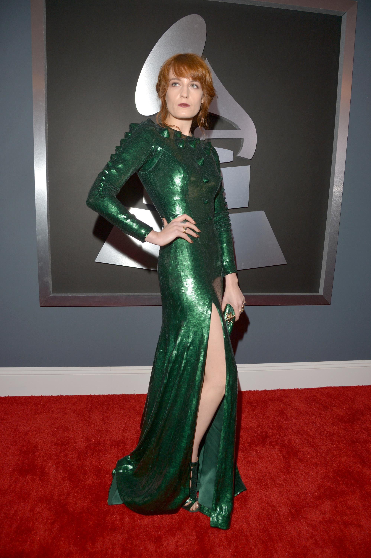 Florence Welch Green dress 2013 Grammy Awards