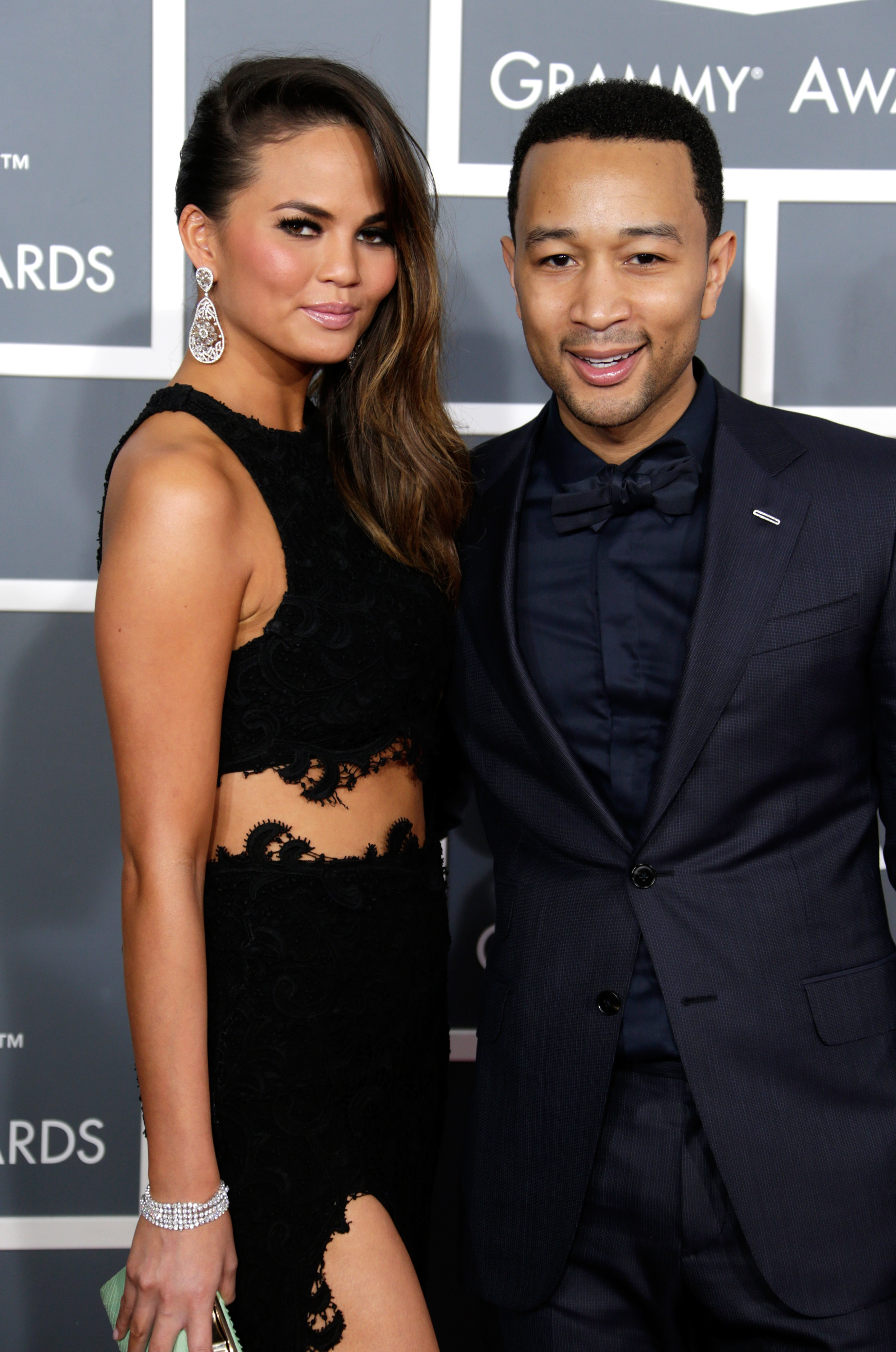 Chrissy Teigen and John Legend 2013 Grammy Awards