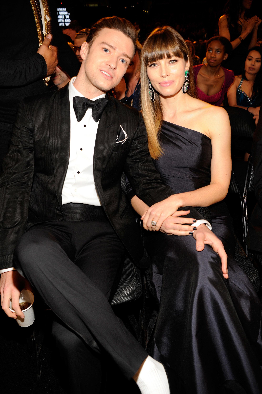 Justin Timberlake and Jessica Biel 2013 Grammy Awards