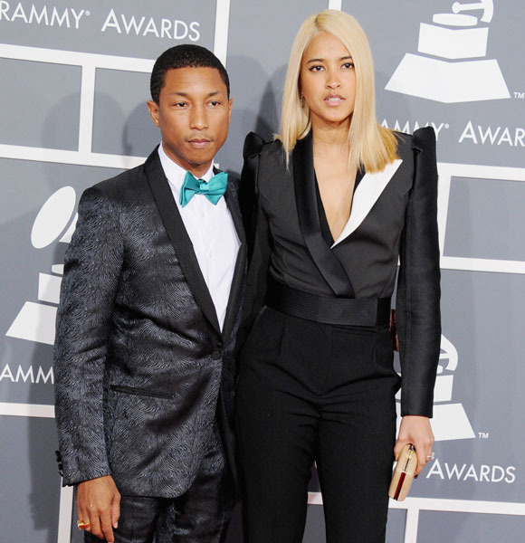 Pharrell Williams and Helen Lasichanh 2013 Grammy Awards