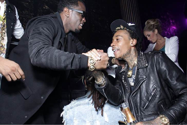 Diddy tattoo Wiz Khalifa