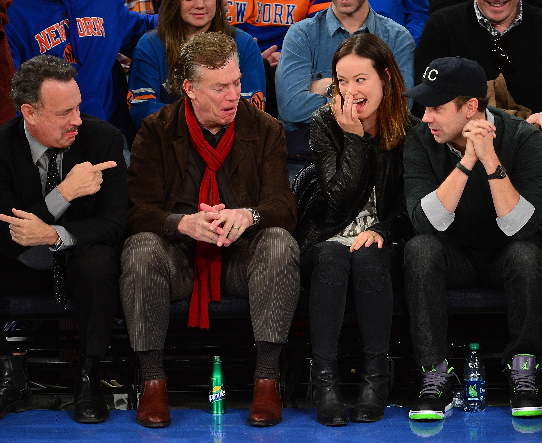 Olivia Wilde Jason Sudeikis Tom Hanks engagement ring