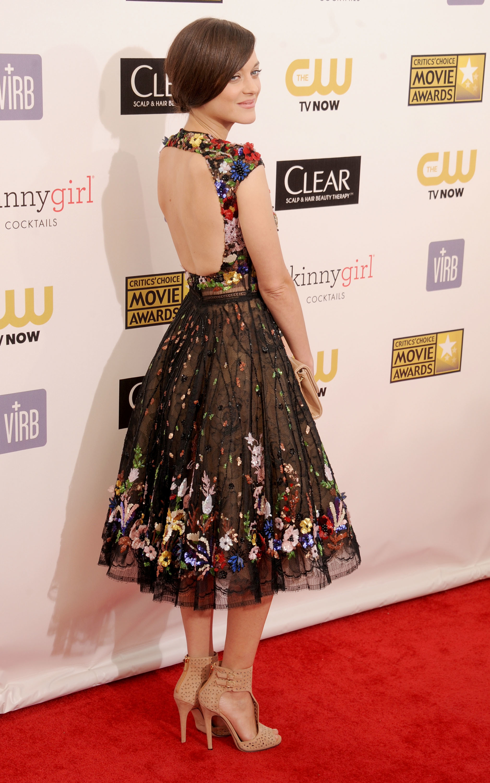 Marion Cotillard backless dress