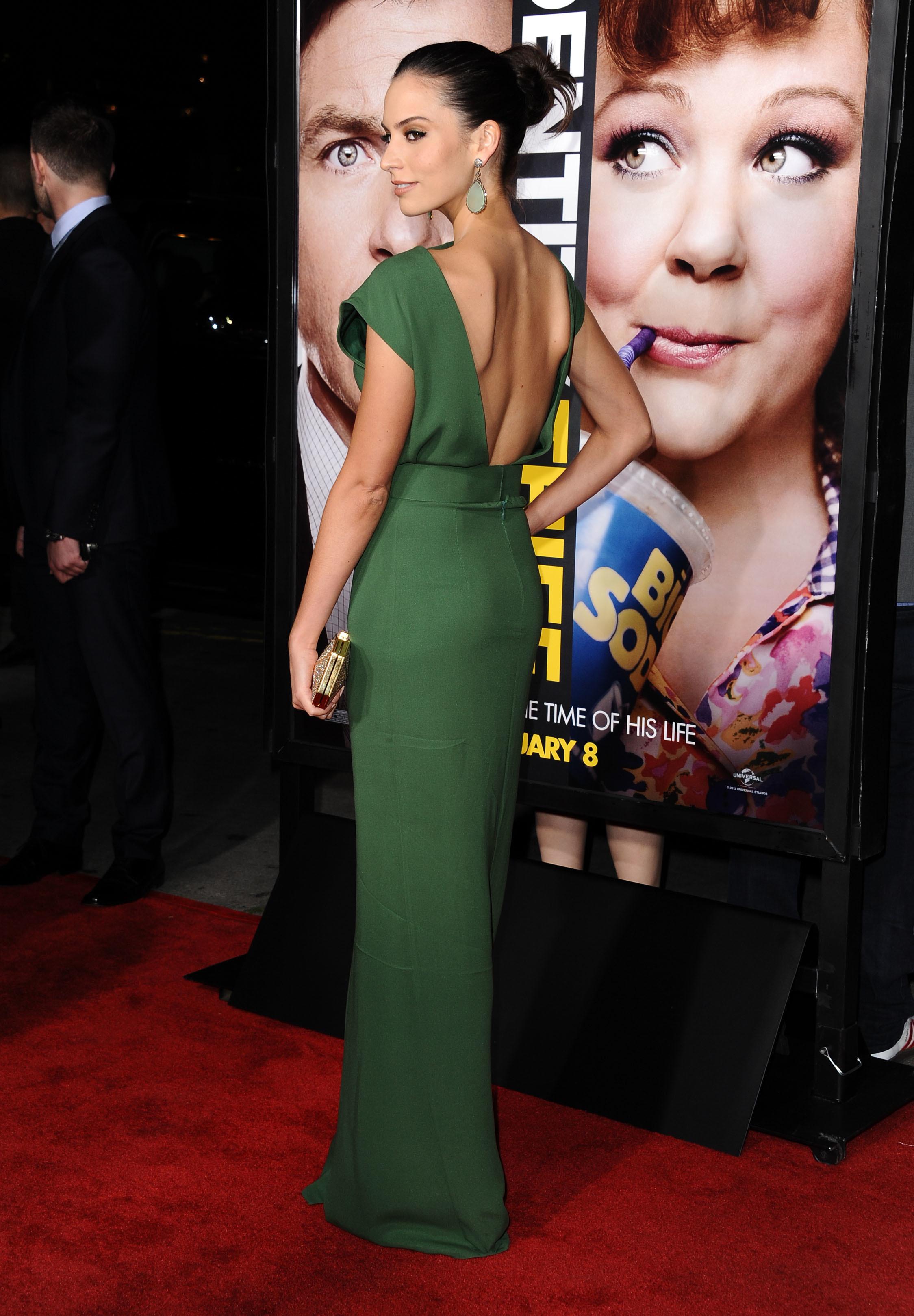 Genesis Rodriguez green dress