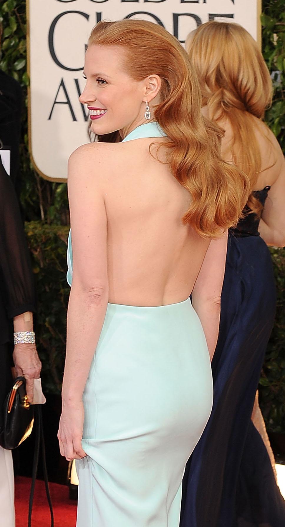 Jessica Chastain Golden Globe dress