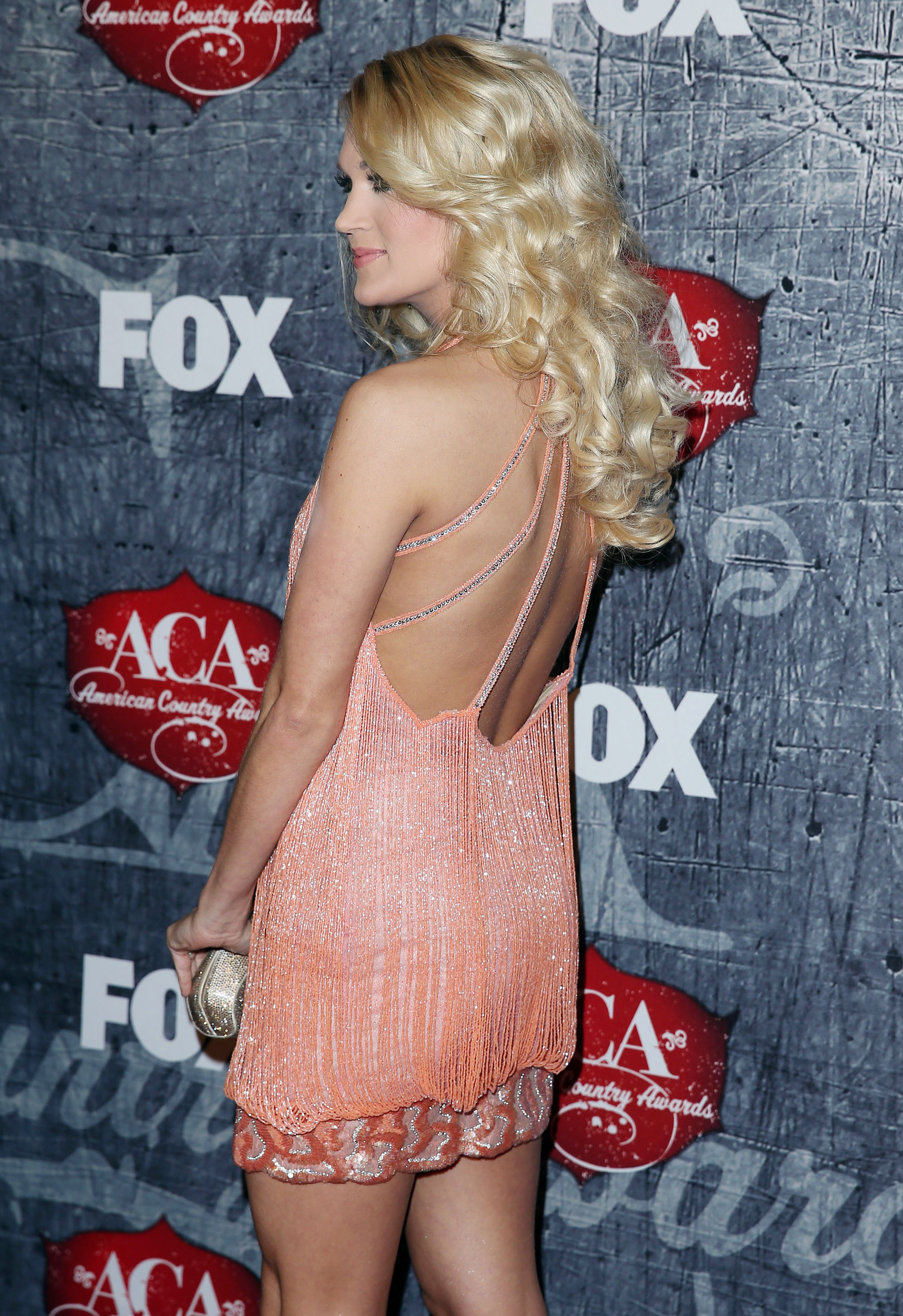 Carrie Underwood backless dress