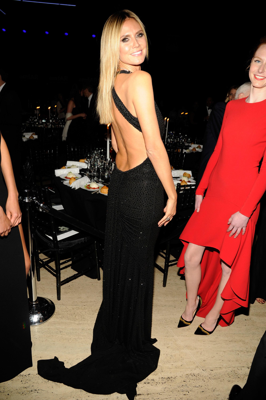 Heidi Klum backless dress