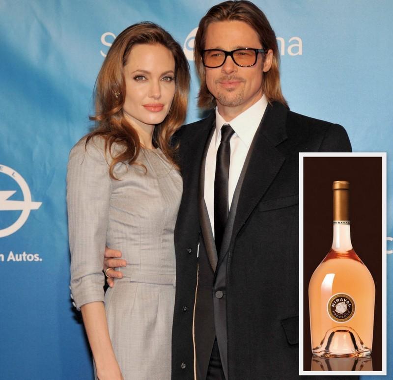 Brad Pitt Angelina Jolie wine Chateau Mirval
