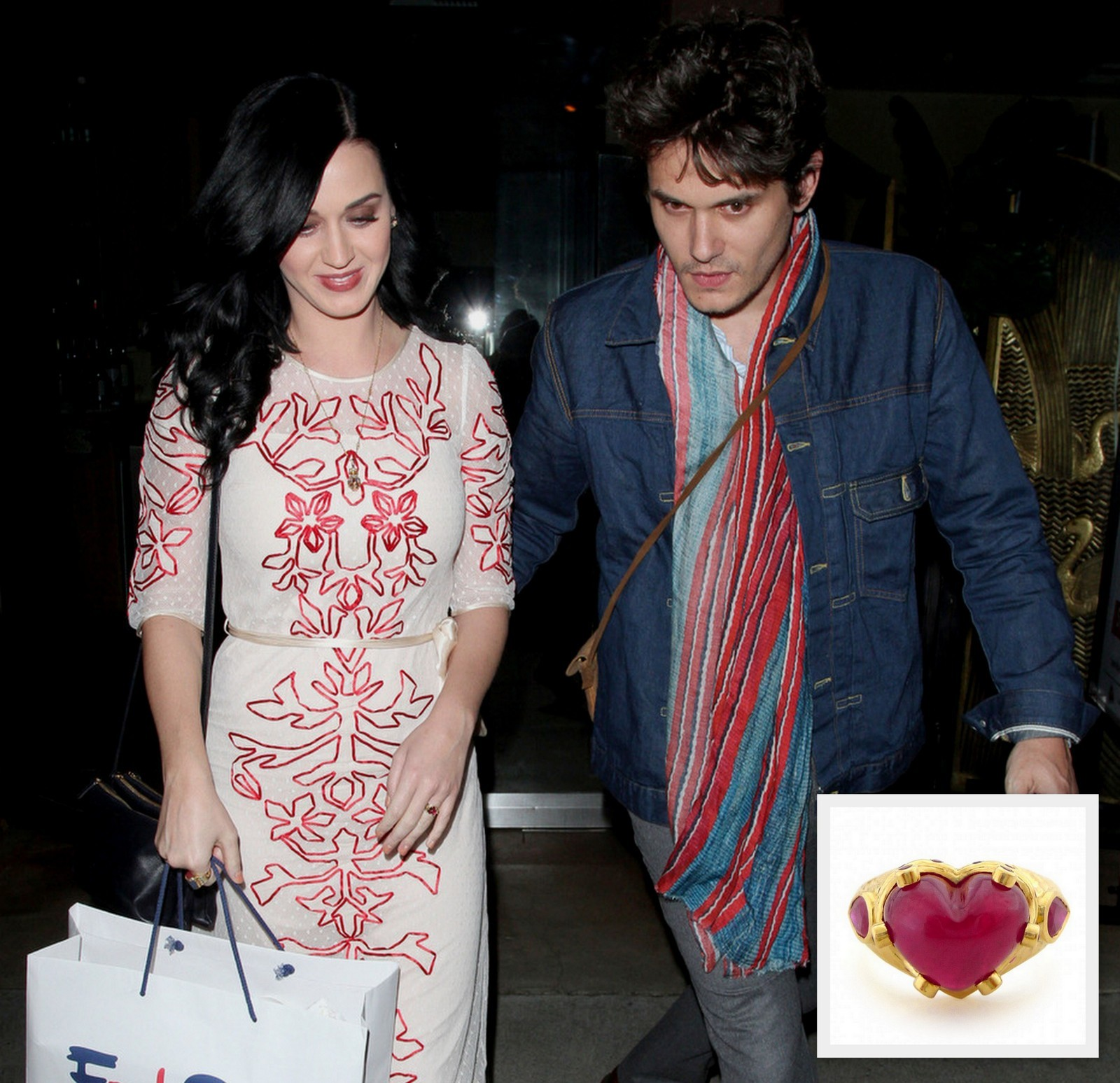 John Mayer Katy Perry ruby ring