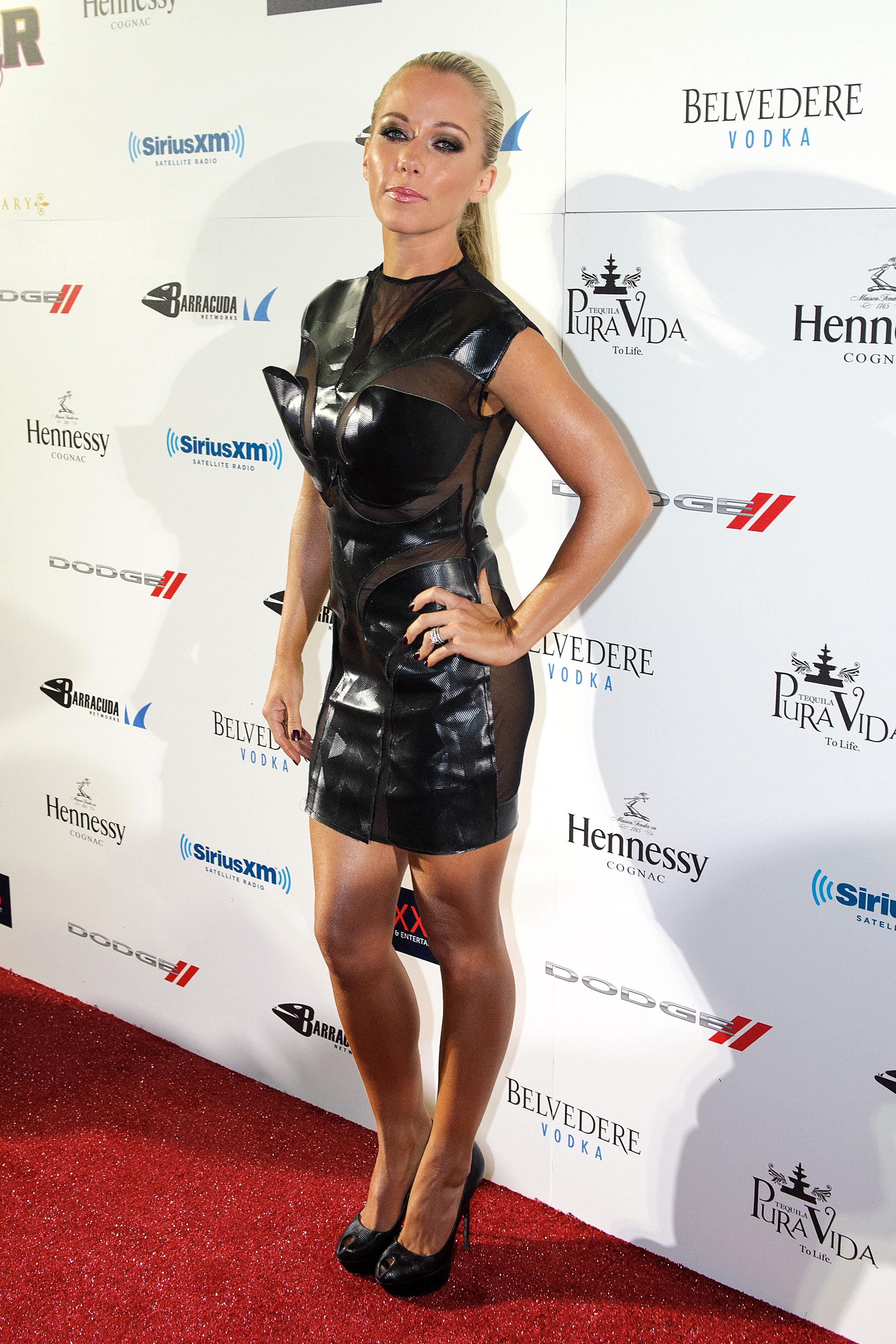 Kendra Wilkinson black minidress