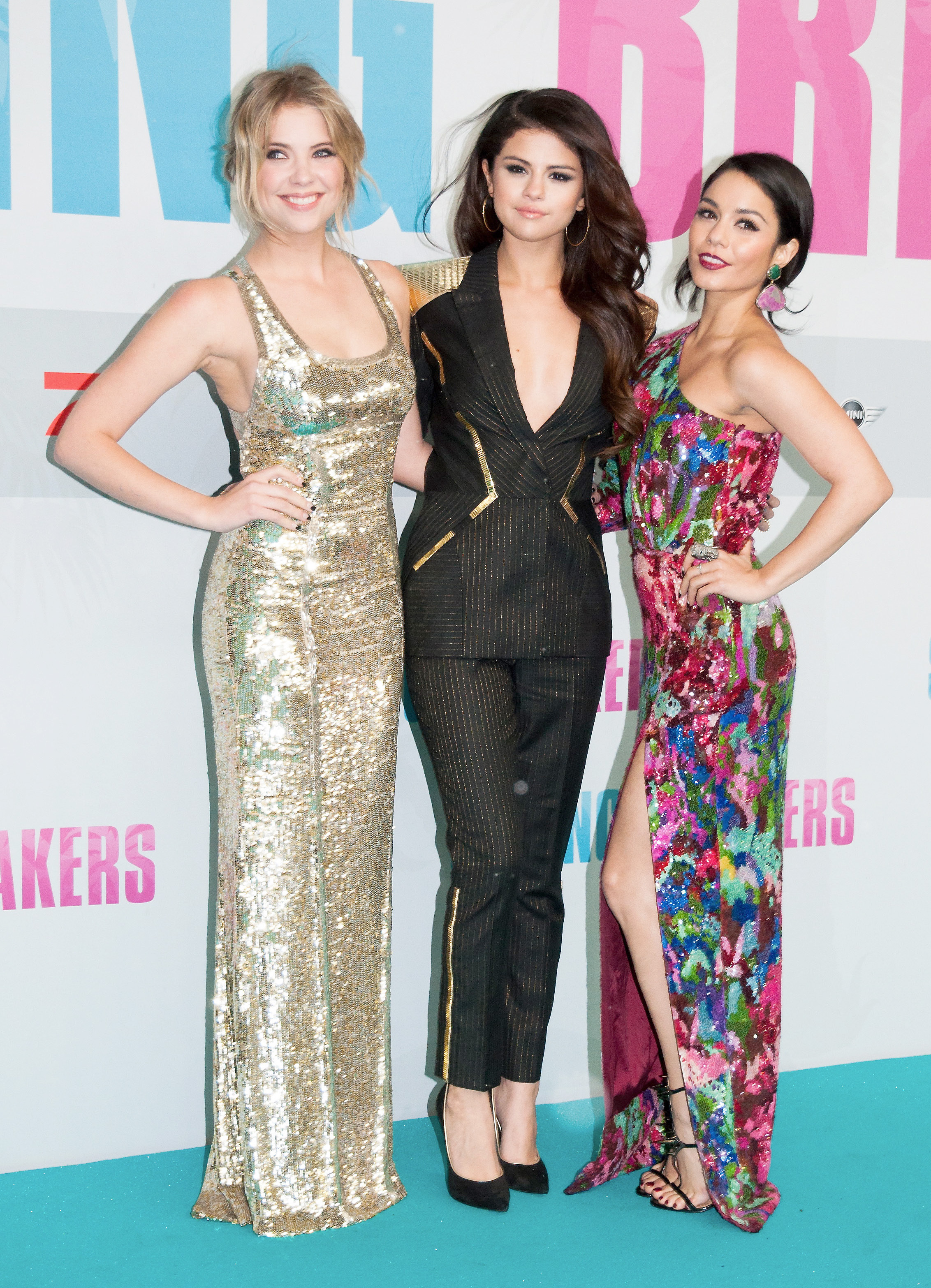 Ashley Benson gold Selena Gomez menswear Vanessa Hudgens floral