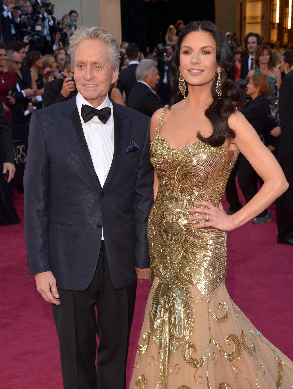 Michael Douglas and Catherine Zeta Jones Oscars 2013