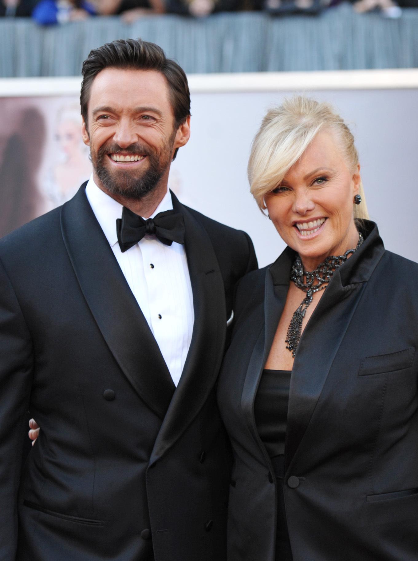 Hugh Jackman and Deborra Lee Furness Oscars 2013