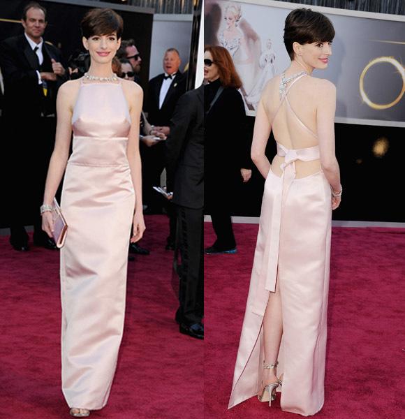 Anne Hathaway prada 2013 Oscars academy Awards