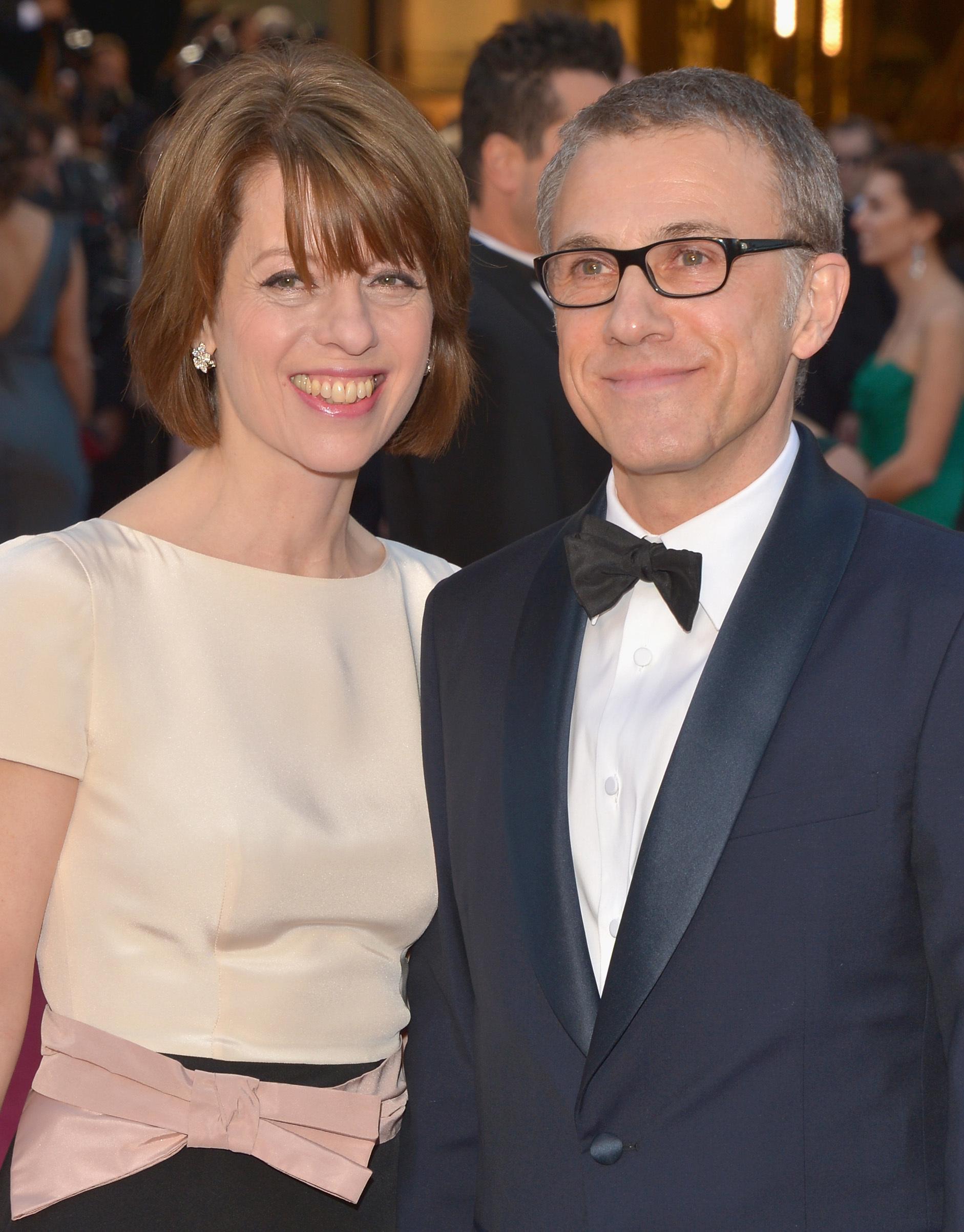 Christoph Waltz Judith Holste Oscars 2013