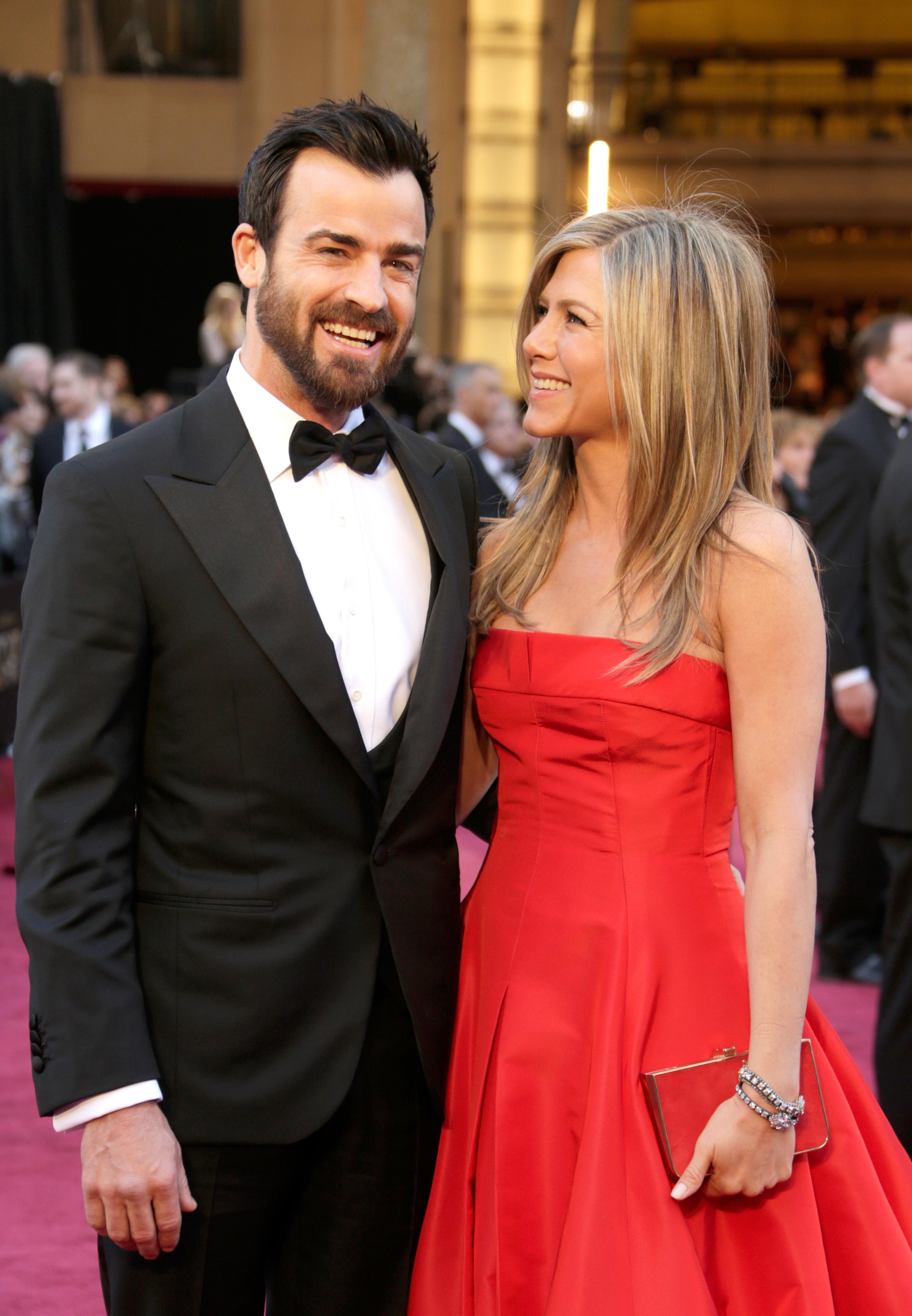 Jennifer Aniston Justin Theroux Oscars 2013