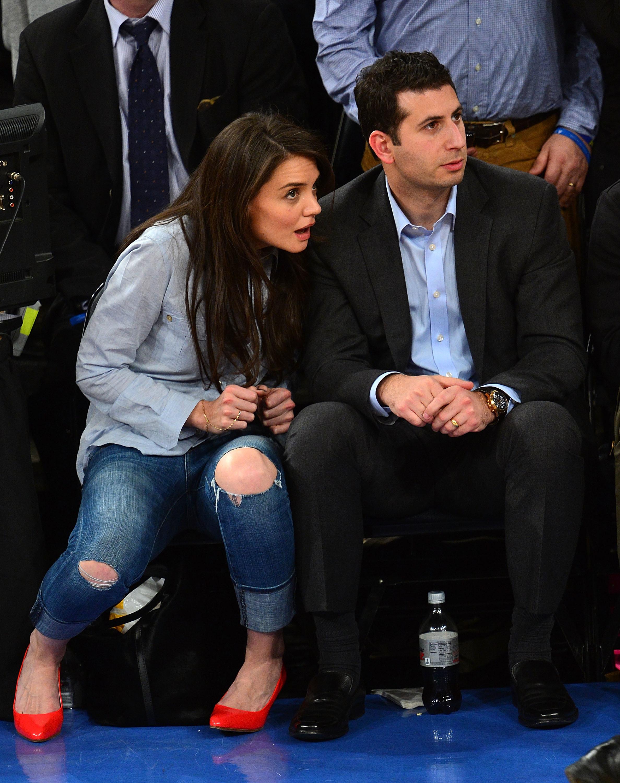 Katie Holmes Knicks game