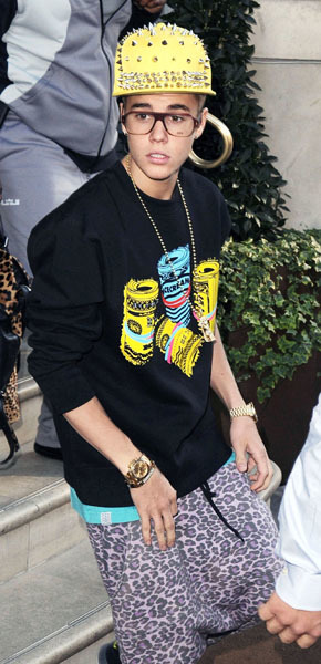 Justin Bieber Redfoo fashion