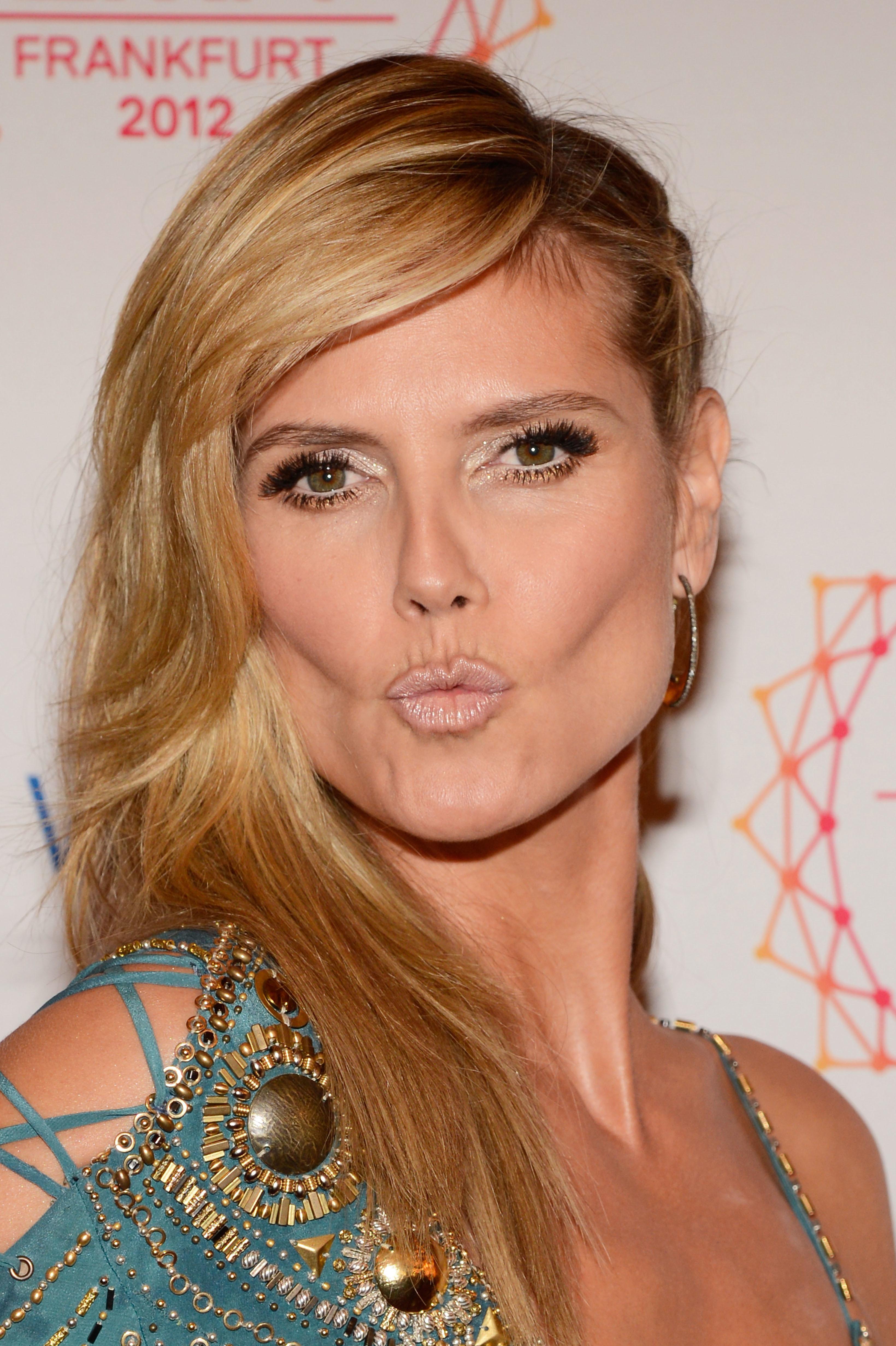 Heidi Klum nude lips