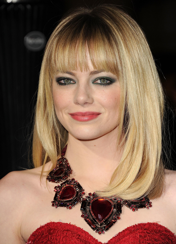 Emma stone bangs