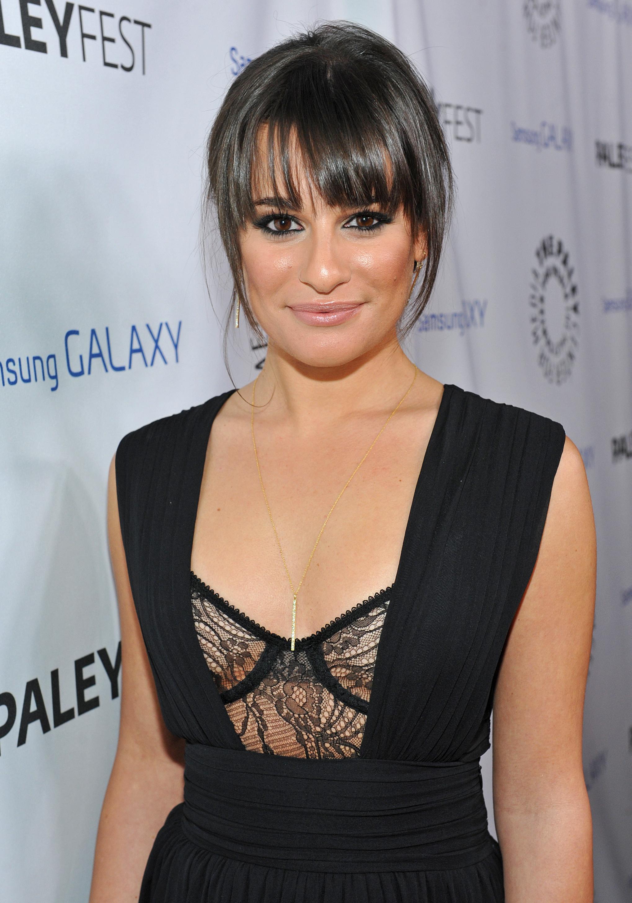 Lea Michele bangs