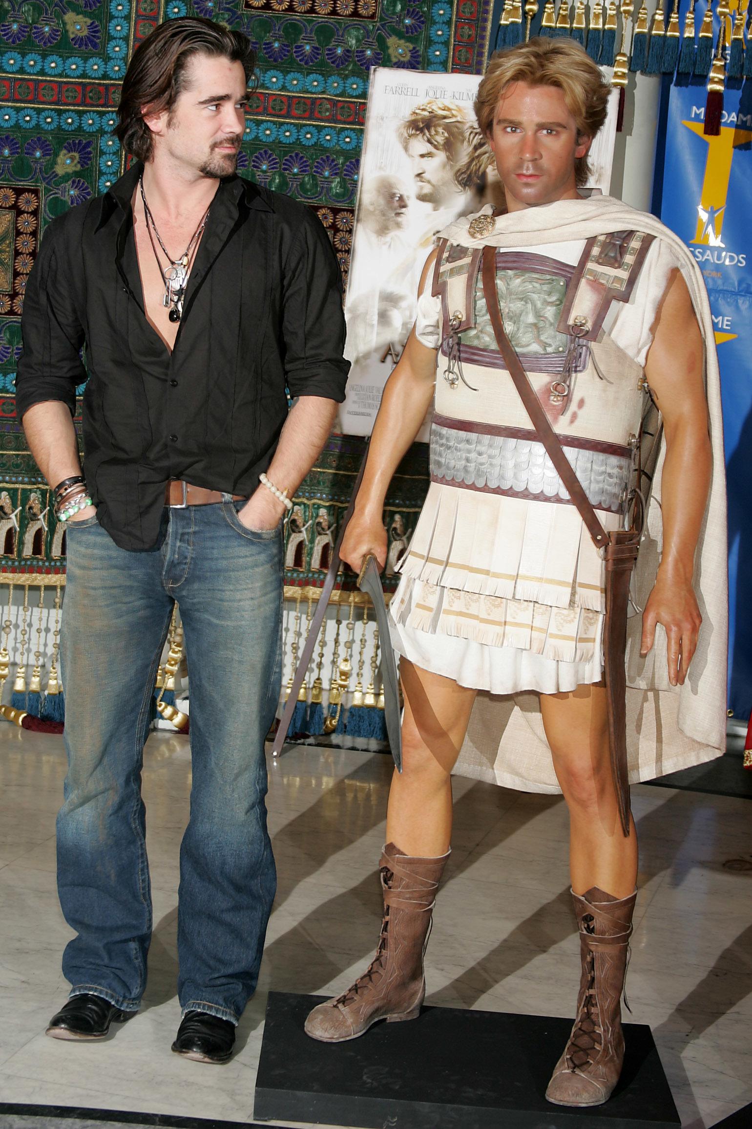 Colin Farrell Alexander wax figure Madam Tussauds