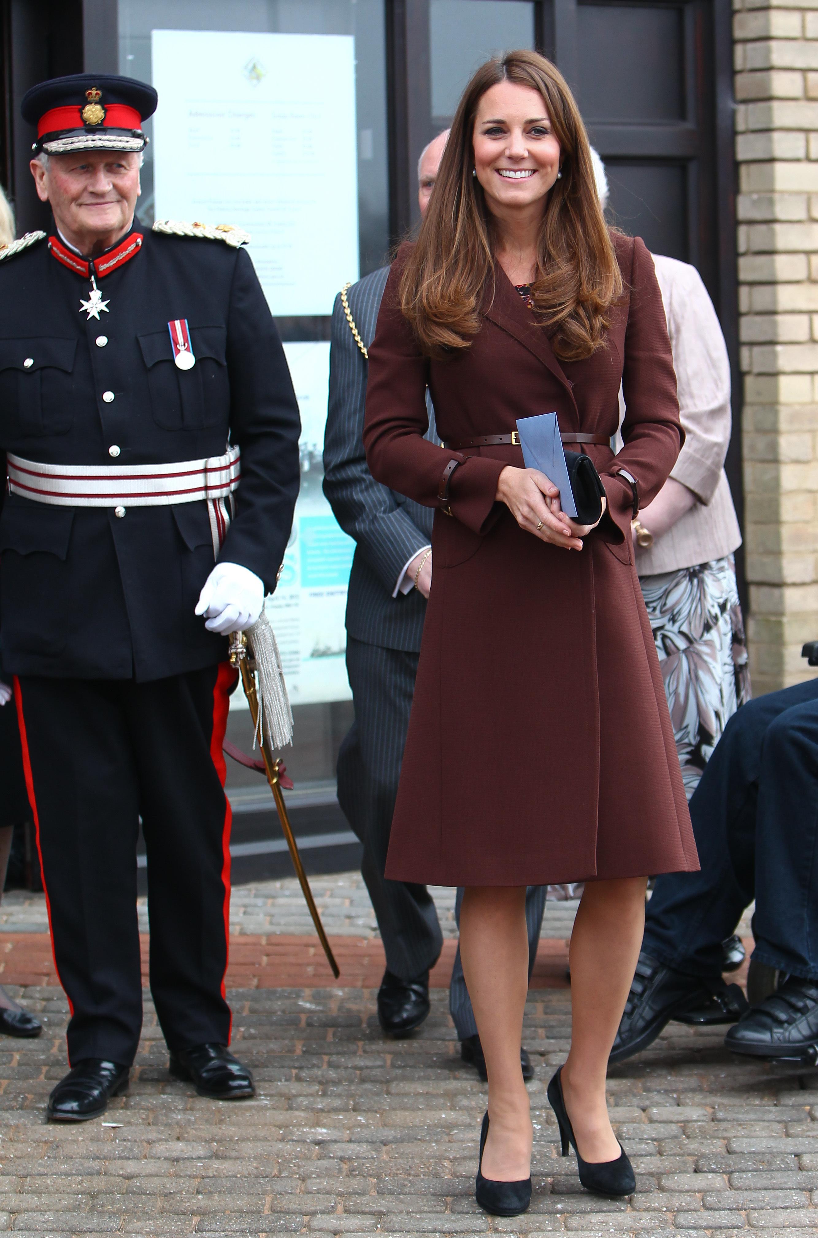 Duchess Kate brown trench coat