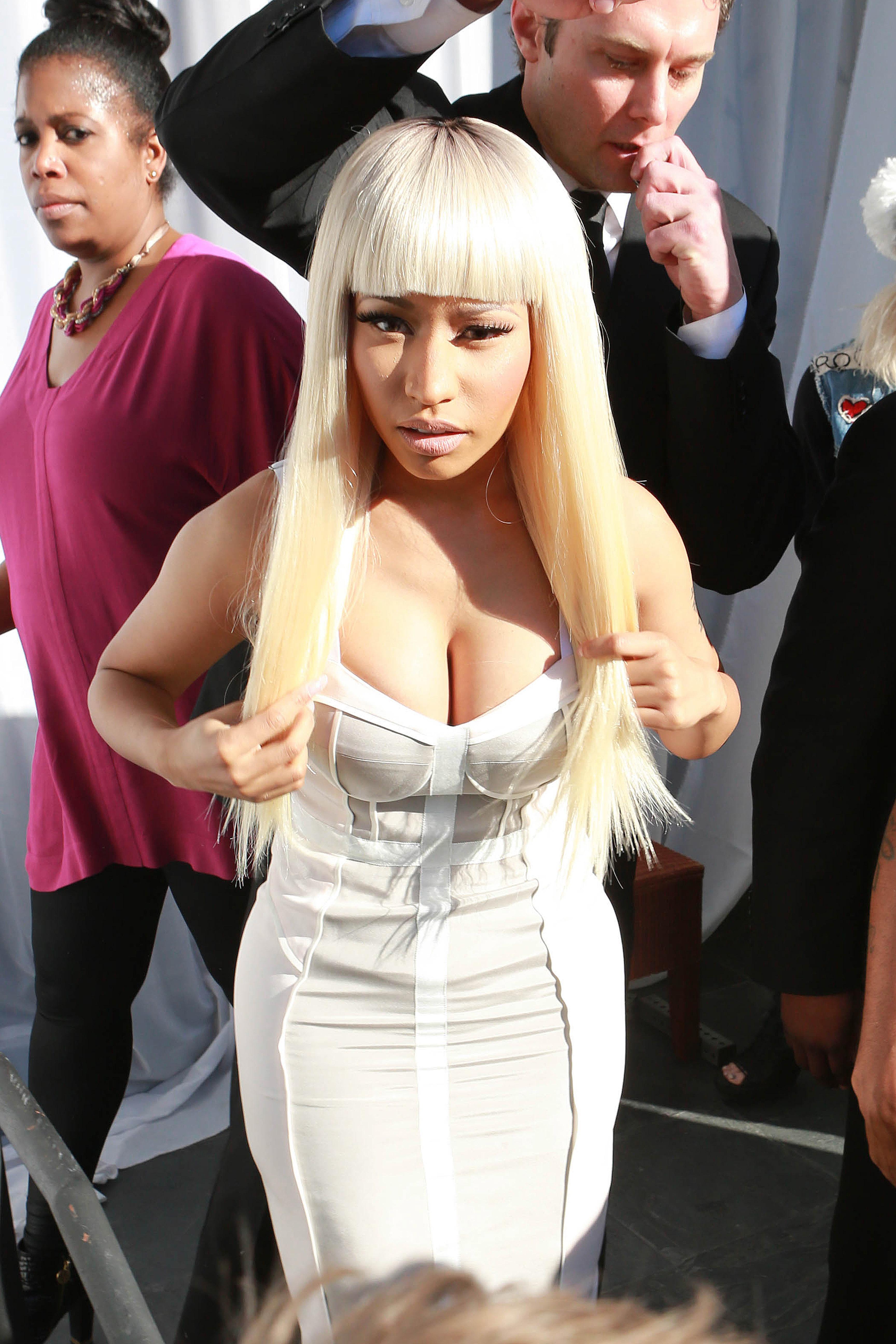 Nicki Minaj white dress