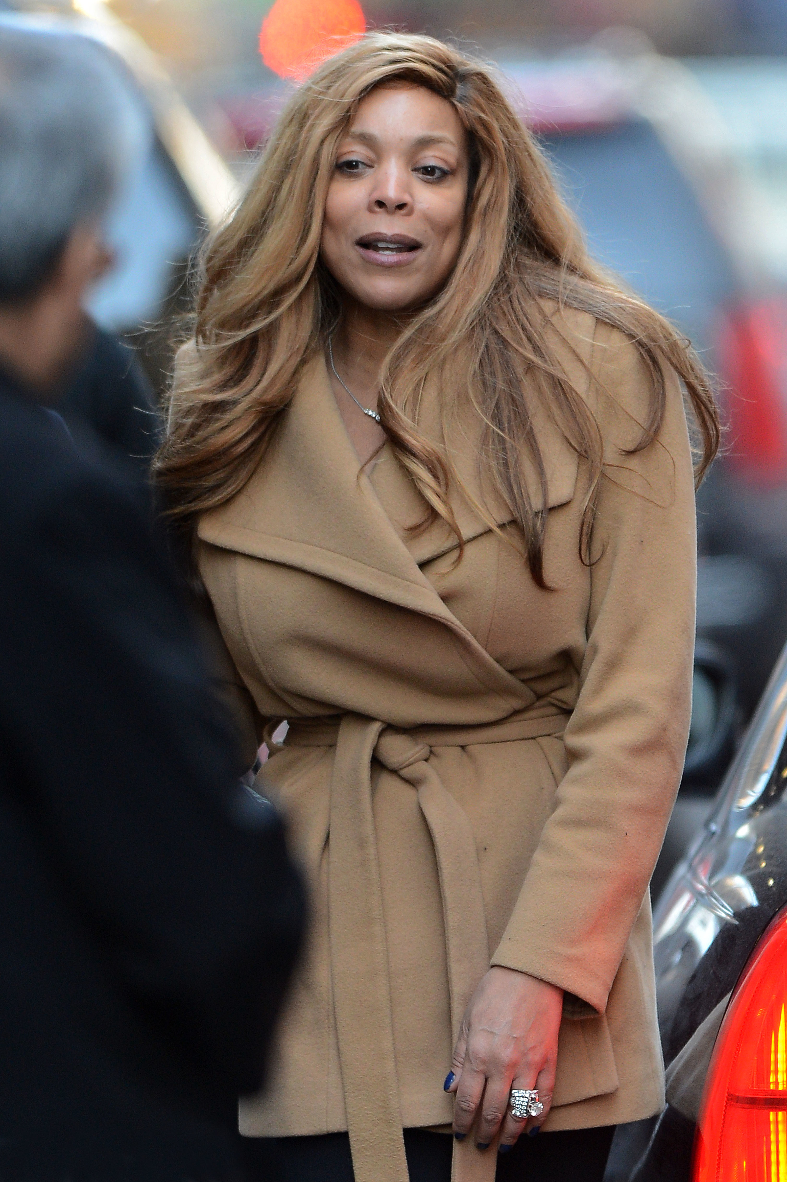 Wendy Williams without makeup engagement ring