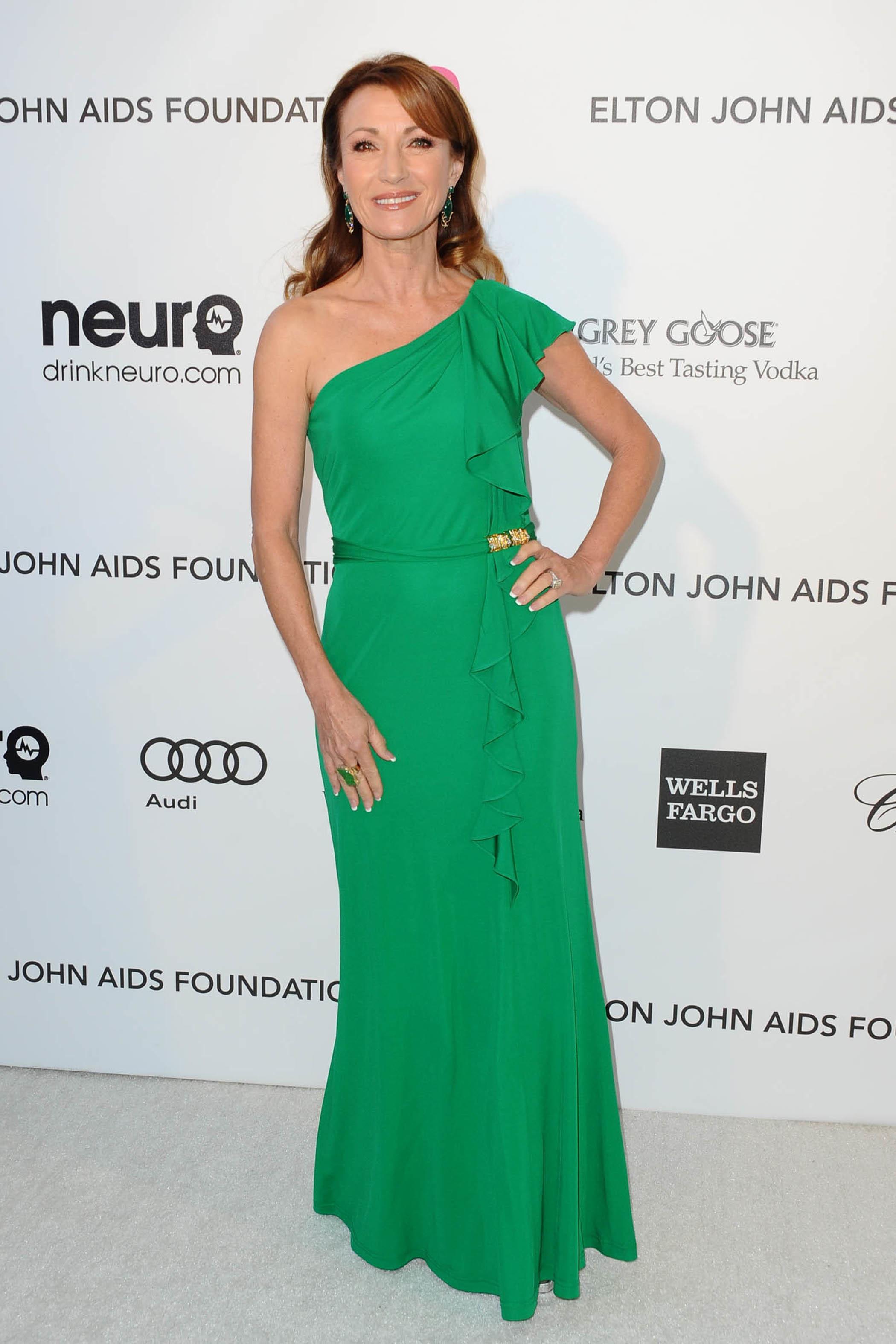 Jane Seymour green dress