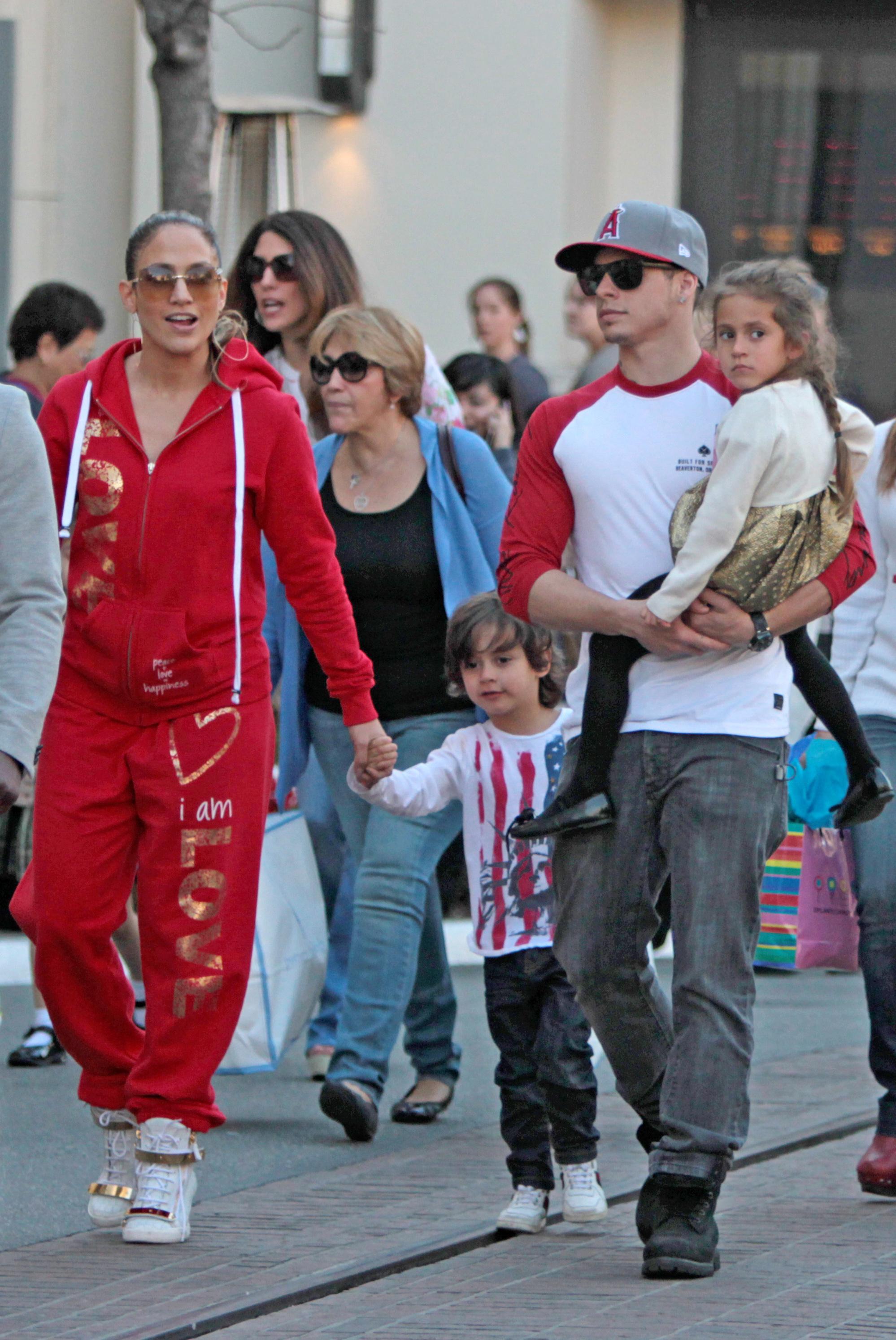 Jennifer lopez max emme casper smart the grove red track suit