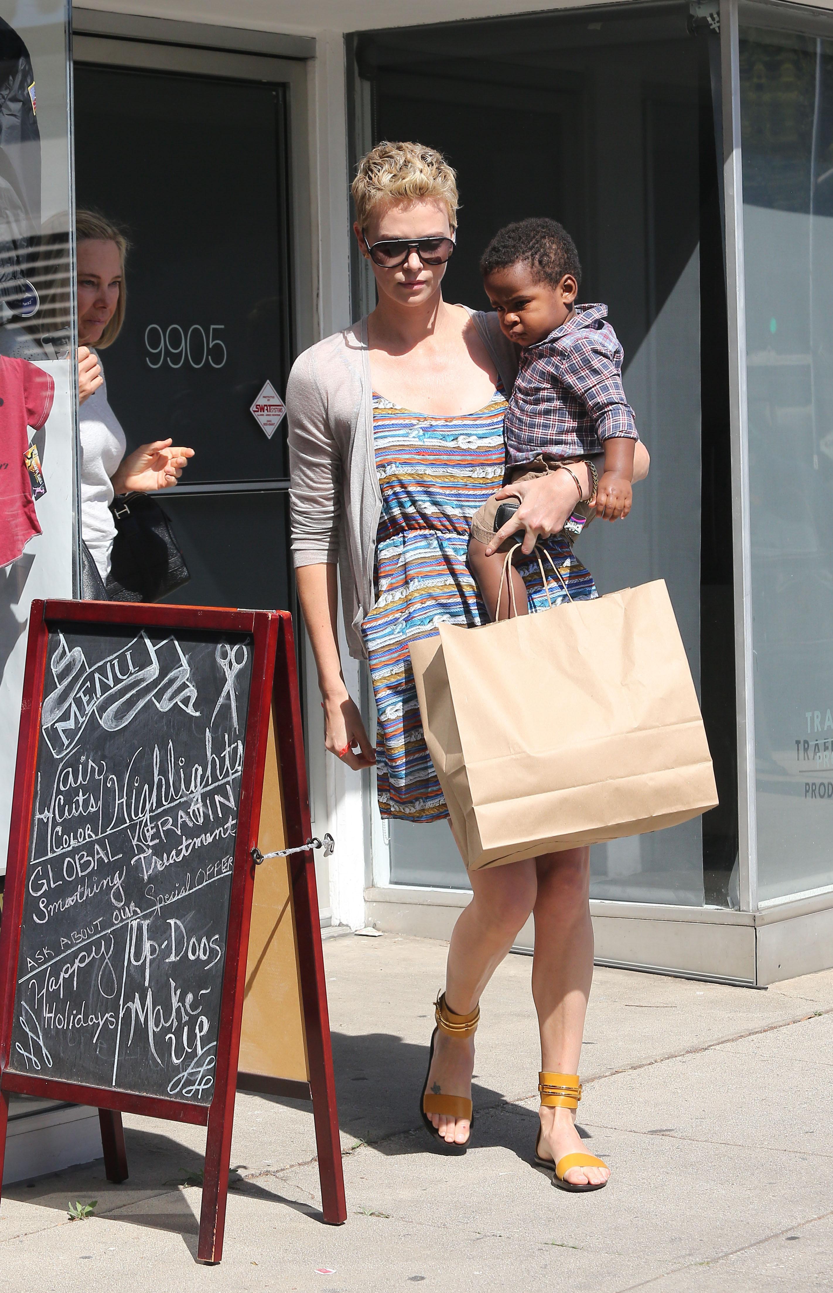 Charlize Theron Jackson theron hair salon
