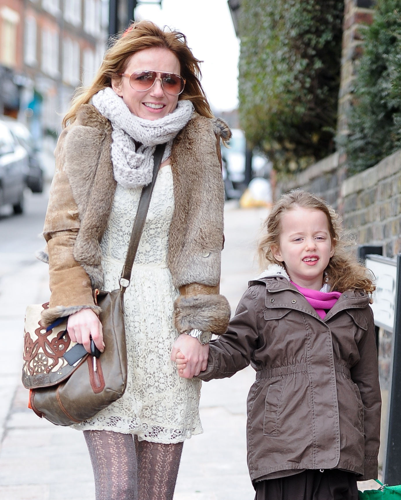 Geri Halliwell Bluebell london brown jackets