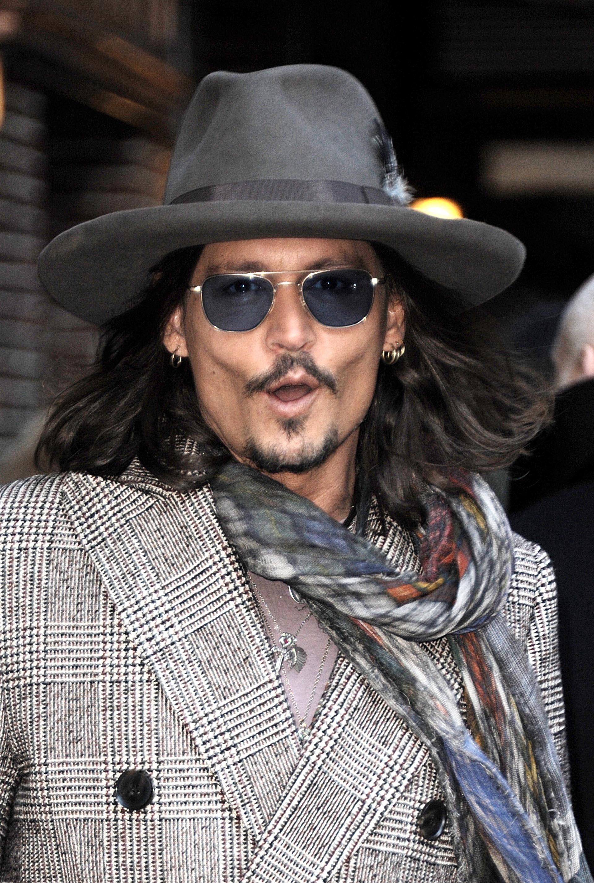 Johnny Depp shocked