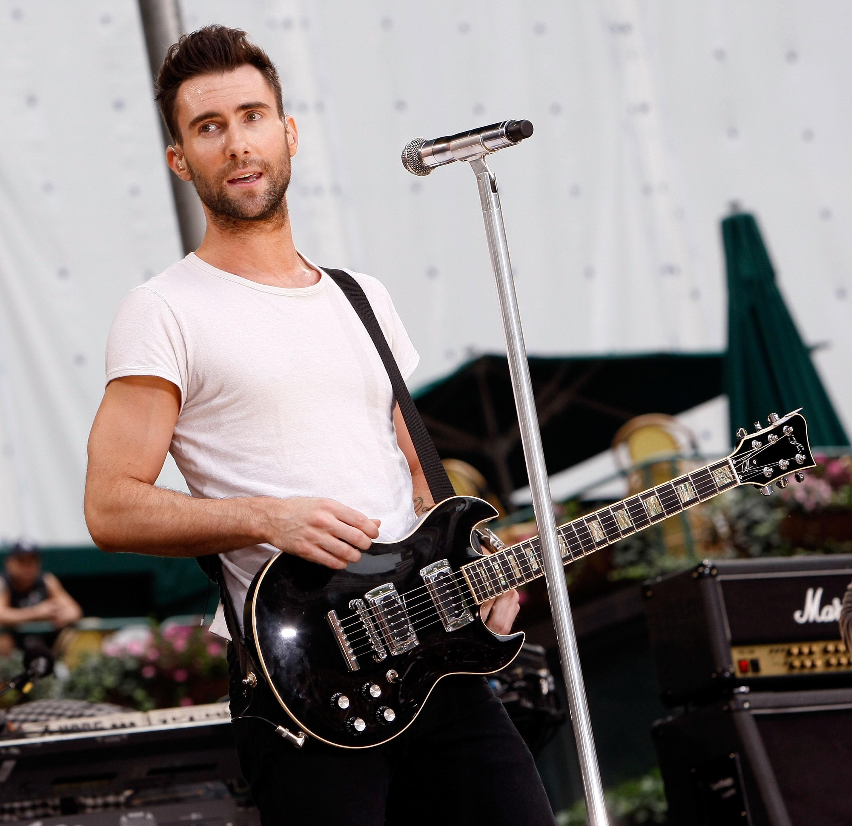 Adam Levine singing